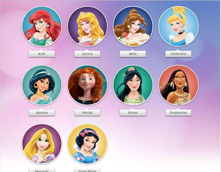 disney princesses names Disney Pinterest Disney