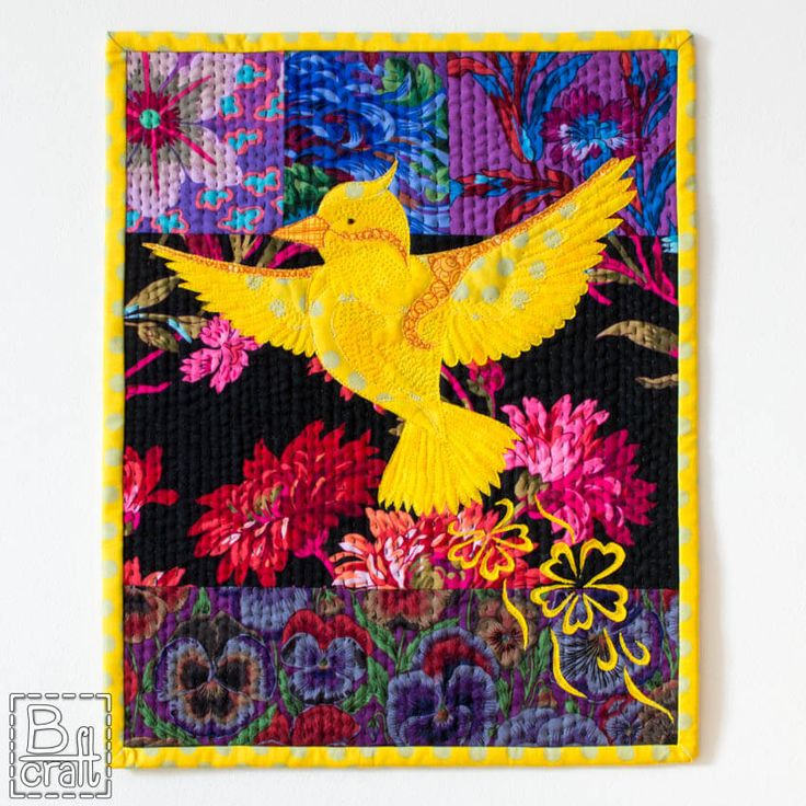 Mały żółty ptaszek - makatka | B-craft