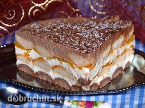 Fotorecept: Nepečená broskyňová torta - Vynikajúca nepečená dobrota...