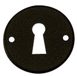 Sleutelplaatje Rond smeedijzer zwart