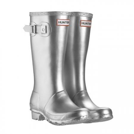 silver wellington boots