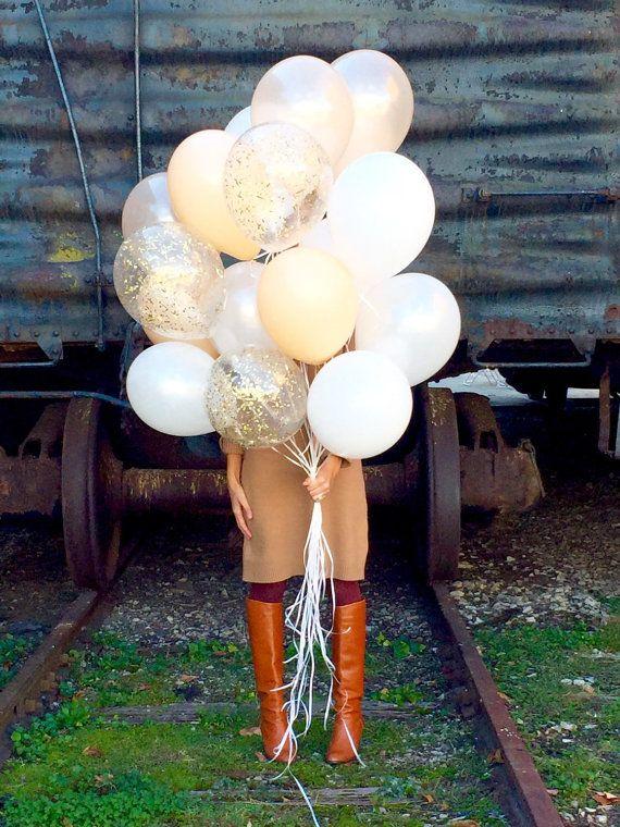Bouquet de ballons Ballons de confettis LIVRAISON GRATUITE | Etsy