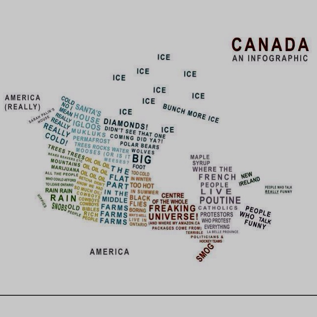 Canada, an infographic with words (lots of words, some of which are funny)