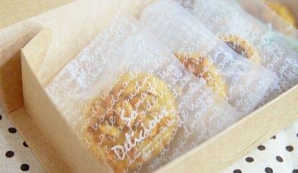 200 pz 10 * 12 cm delizioso con passe-partout mezza trasparente biscotto sacchetti di biscotti piatti di imballaggio alimentare borse(China (Mainland))
