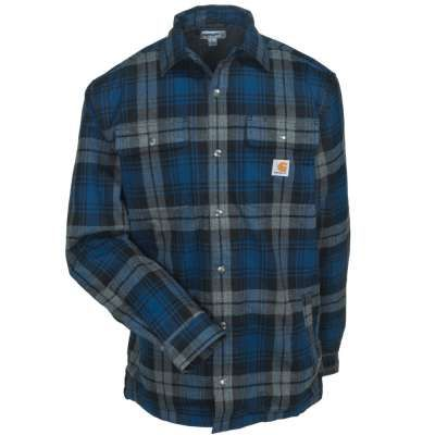 Carhartt Shirts: 101752 988 Sherpa Lined Hubbard Men's Dark Cobalt Blue Shirt Jacket