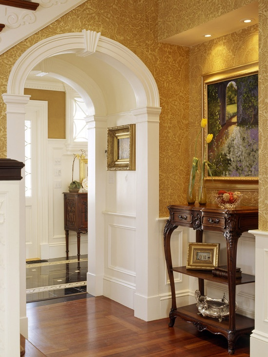White wall with molding added to it...Nice ~!~  Vestibule Design Design, Pictures, Remodel, Decor and Ideas - page 10: