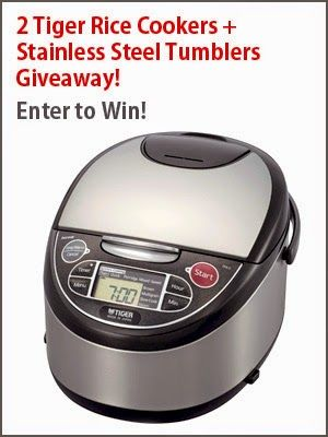 Giveaway: 2 Tiger Rice Cookers + 2 Stainless Steel Tumblers - Pickled Plum