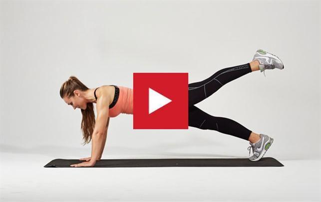 Anne Bech, træningsvideo, fast bagdel