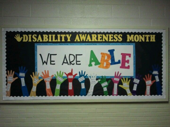 awesome disability awareness month bulletin board