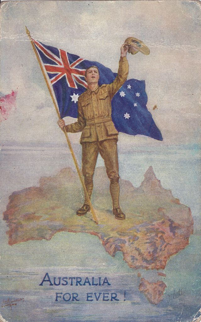Australia for ever! Patriotic World War I postcard