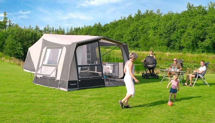 Camp-let Premium, luxe vouwwagen met tent in acryl