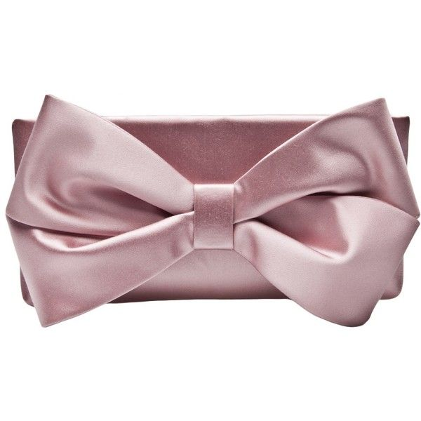 VALENTINO GARAVANI SATIN BOW CLUTCH ($2,675) ❤ liked on Polyvore
