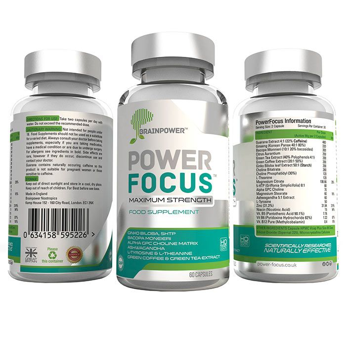 PowerFocus® by Brainpower Nootropics Ltd.  The Worlds Strongest Nootropic Brain Supplement. All-Natural. Vegetarian. Vegan. Gluten Free. Try it Risk Free for 30 days with our money back guarantee.  power-focus.co.uk