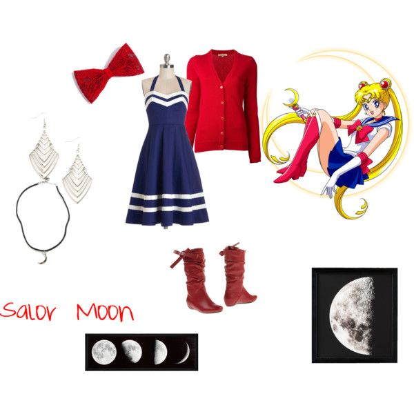 Salor Moon by red-foxess-and-wolf on Polyvore featuring мода, Bea & Dot, Michael Kors, Francesco Milano, Brandy Melville, Restoration Hardware and Episode