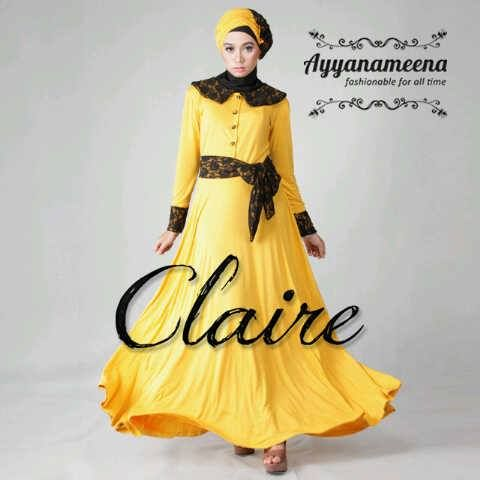 Yellow dress with brocade