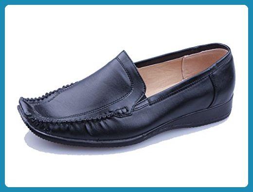 Elegante und superbequeme Mokassins in schwarz, Damenschuhe, MOK005, Schuh für Damen. Schwarz. - Slipper und mokassins für frauen (*Partner-Link)