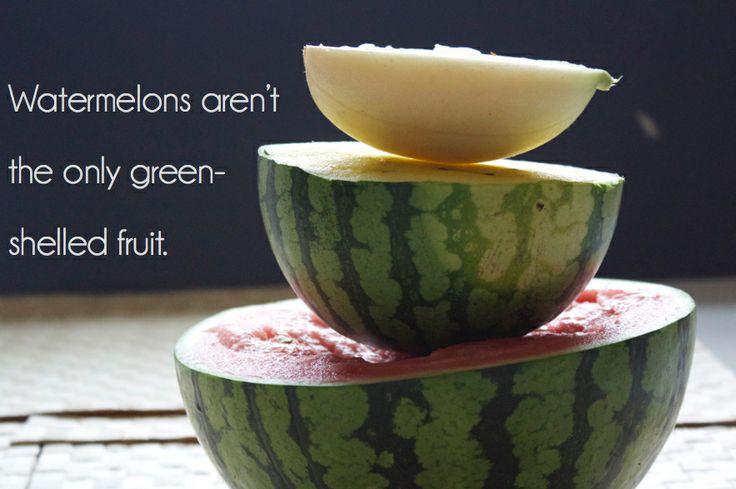 When buying green shelled fruits, such as watermelon, if you aren't sure of the specific fruit inside, buy the already sliced variety.