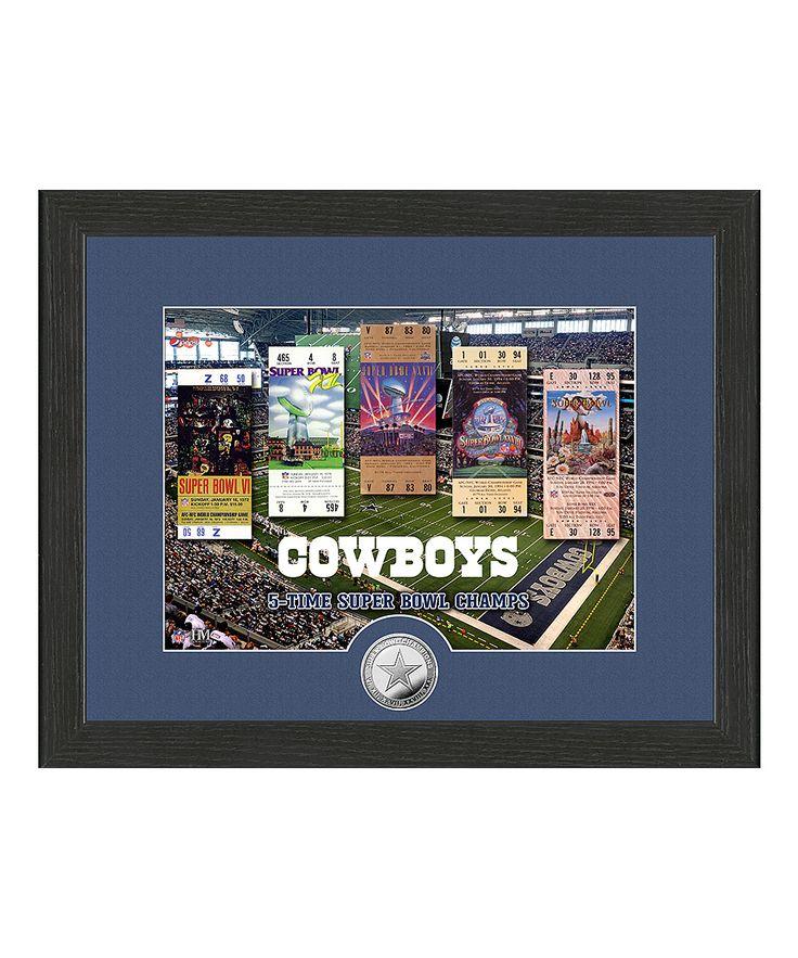 Dallas Cowboys Super Bowl Ticket Coin Framed Photo