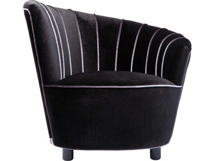 Fotel Pipe czarny — Fotele Kare Design — sfmeble.pl