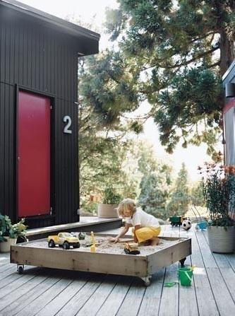 sandbox good idea perfect for the roof deck garden design