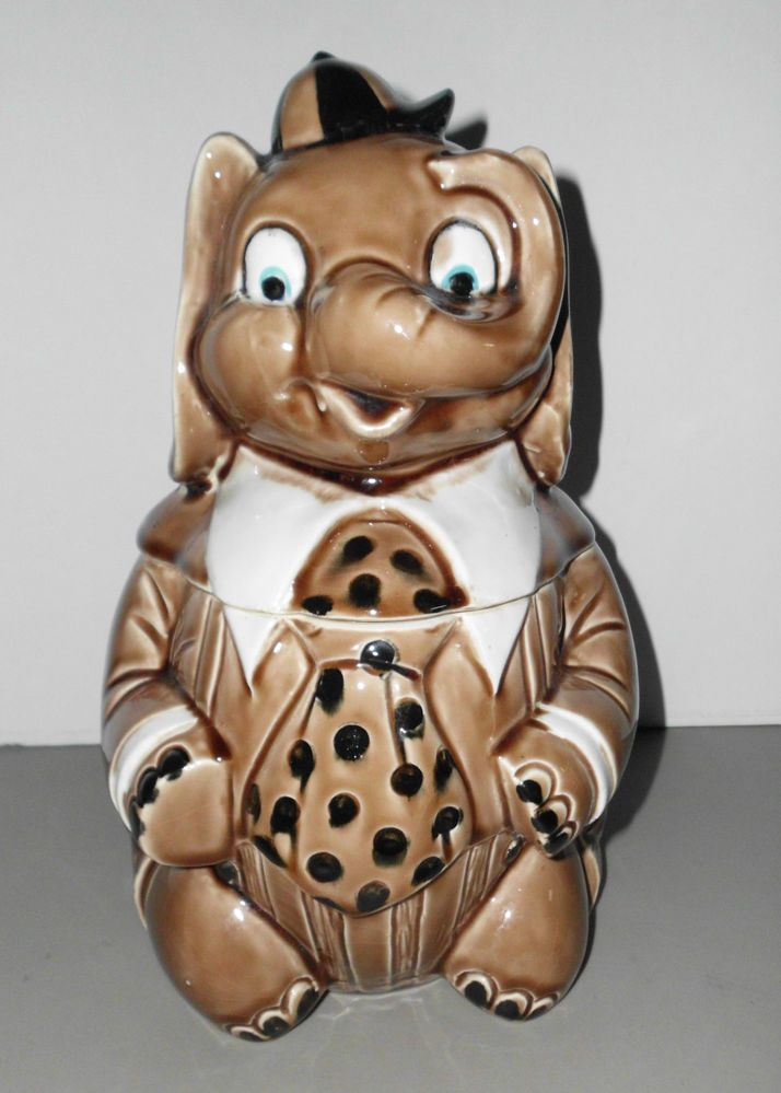 1000 images about cookie jars elephants on pinterest 1940s vintage ceramic and cookie jars - Vintage elephant cookie jar ...