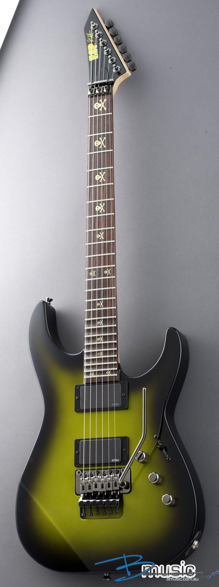 Kirk Hammett Green Guitar