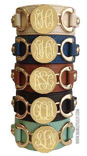 MarleyLilly.com  Super Cute Monogrammed Bracelets!