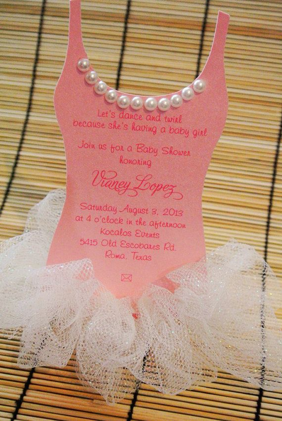Tutu Baby shower invitation - Adorable