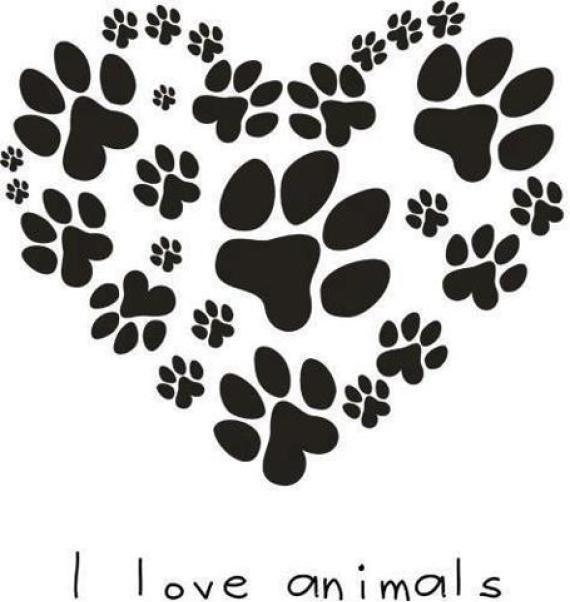Download I love animals #heart #puppylove | Hunde pfoten tattoos