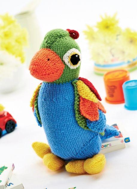 Jason the Parrot - Free Knitting Patterns - Kids Patterns - Let's Knit Magazine