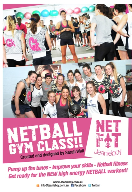 This high-energy 45 minute netball training class combines explosive aerobic movements with strength and power exercises. Choreographed to music!