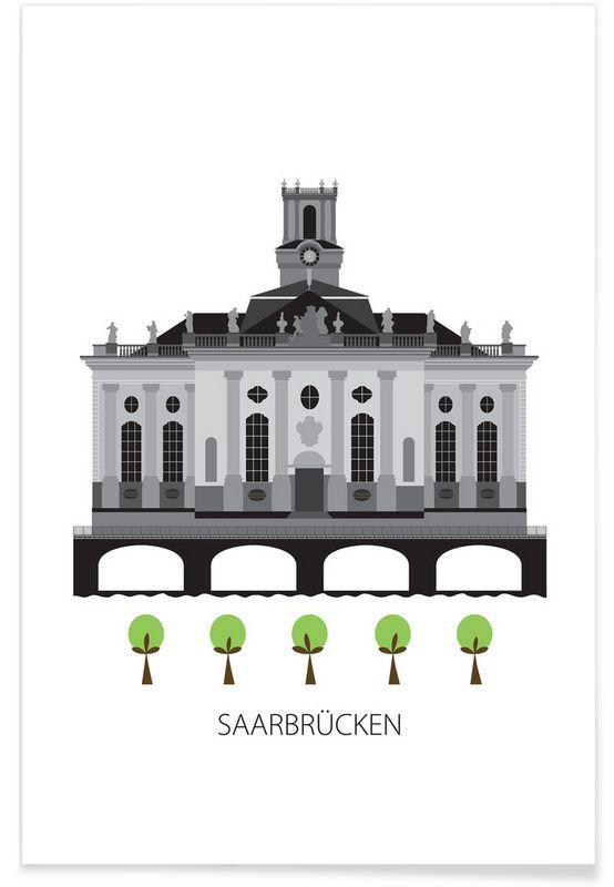 Saarbrücken als Premium Poster von Forma Nova   JUNIQE