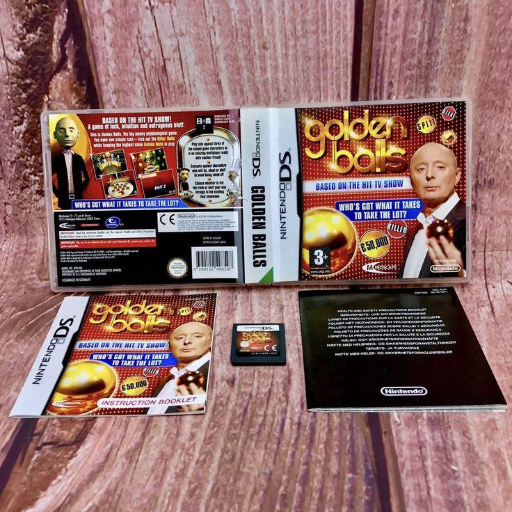 Nintendo DS Golden Balls Nintendo DS Lite DSi XL Game Cased Booklets Cartridge