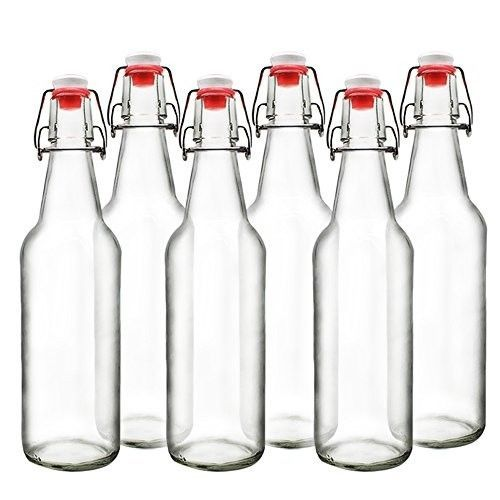 Clear Glass Beer Bottles for Home Brewing with Easy Wire