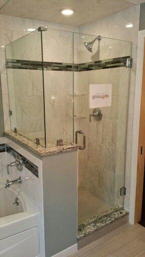 114 Best Frameless Shower Doors Swinging Hinged Images