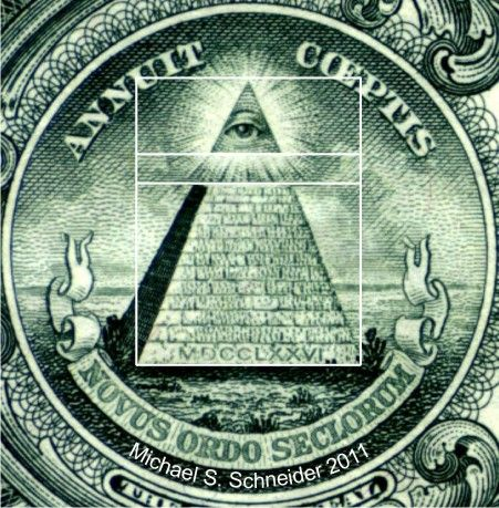 Sacred geo on our money - placed there by the founding fathers; Freemasons,   all of them.