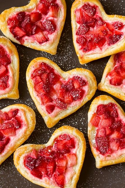 Heart-Shaped Strawberry Cream Cheese Breakfast Pastries!!