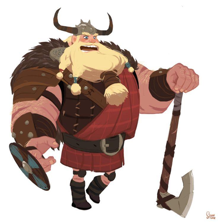"ArtStation - Personal project - The sea king contest. viking team ""wood-lou"", SoonSang Hong"