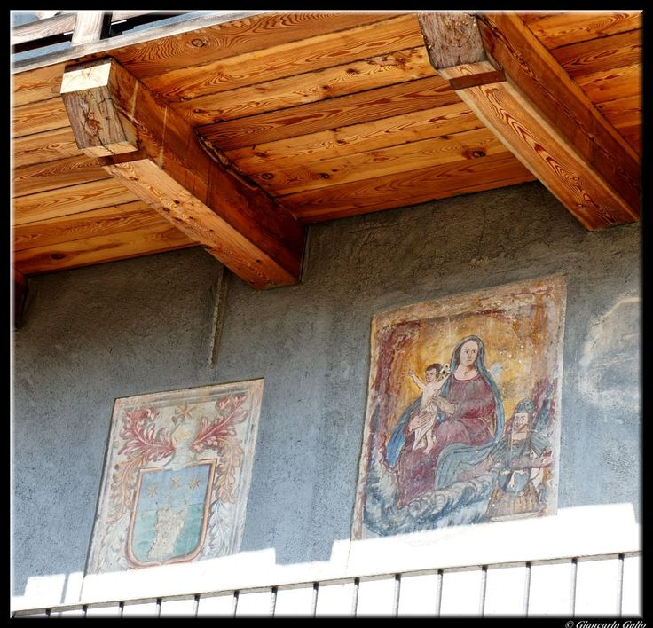 frescos on the wall  by Giancarlo Gallo