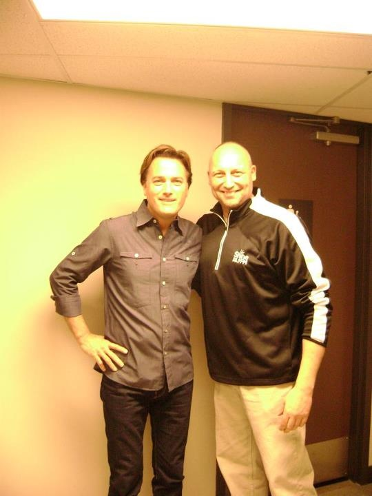 Michael W Smith and Shine FM's Tony the prize guy