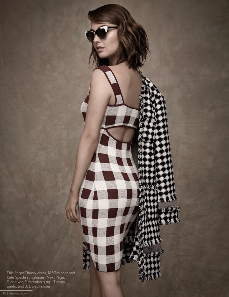 Camilla Luddington Wears Stripes for Line Magazine
