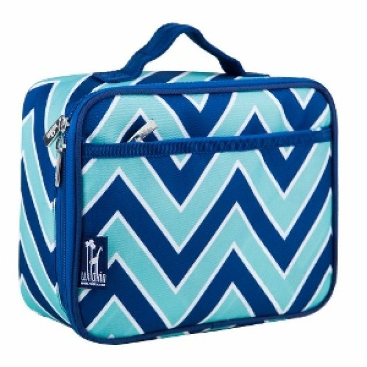 Zigzag Lucite Lunch Box in Blue and White