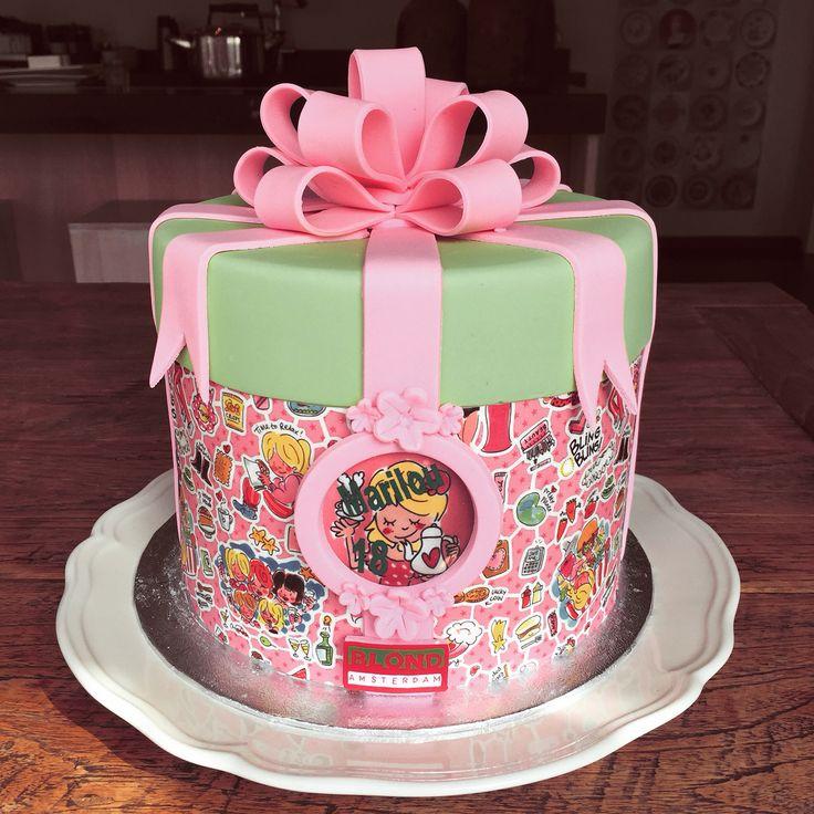 My birthday cake #taart #Blond #sweet18