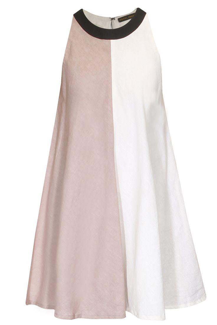 Ivory and pink half and half sleeveless by Priyal Prakash  Shop now: http://www.perniaspopupshop.com/designers/priyal-prakash   #shopnow #perniaspopupshop #priyalpraakash