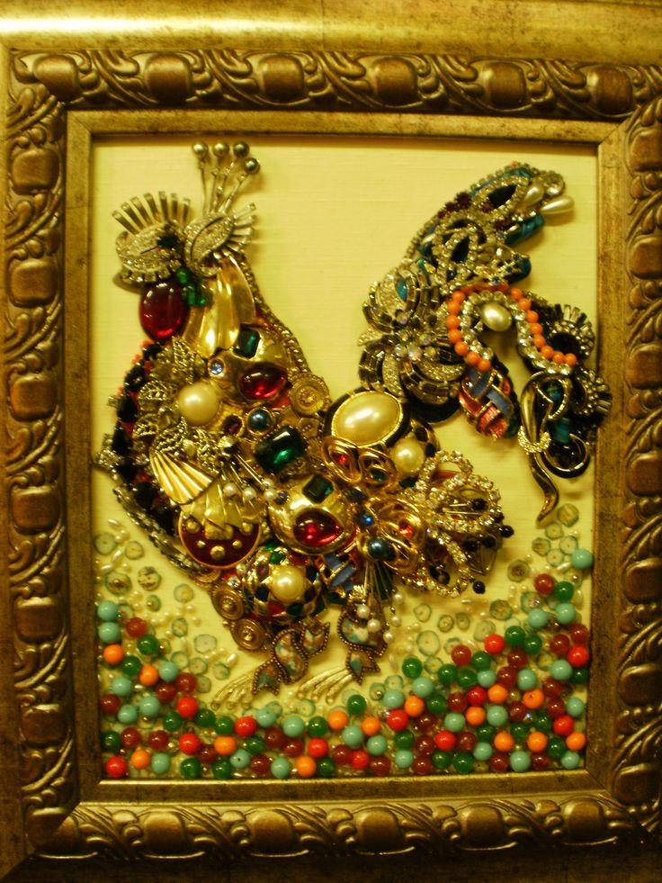 87 Best Repurposed Vintage Jewelry Art Images On Pinterest
