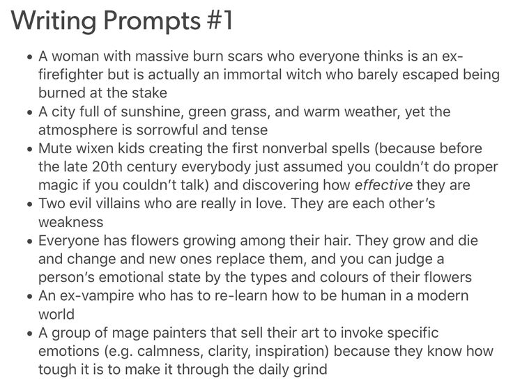 writing prompts from tumblr @ remember-therain