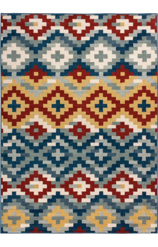 Well Woven Bright Trendy Twist Diamonds Azteca Zigzag Blue Air Twisted Polypropylene Rug X Ping Great Deals On Rugs