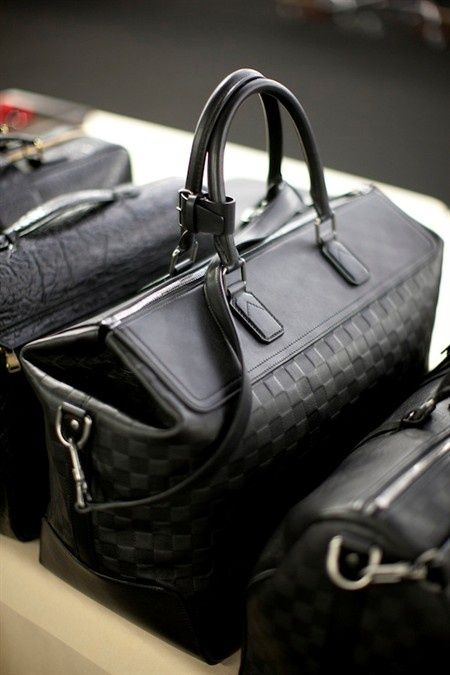 LV luggage for a stylish
