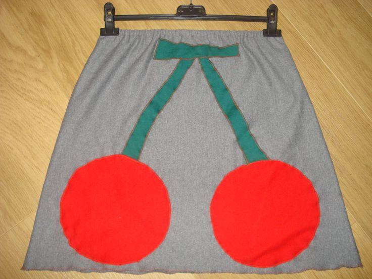 χειροποίητη φούστα κερασάκια