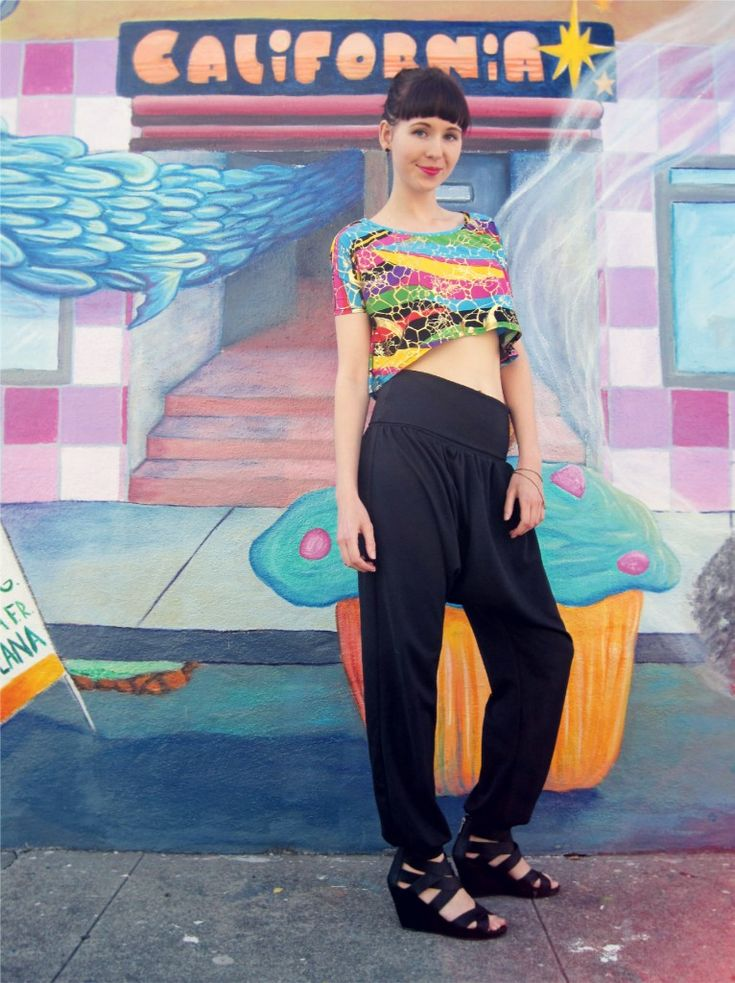 Diy Harem Pants And Crop Top Sewing Patterns And